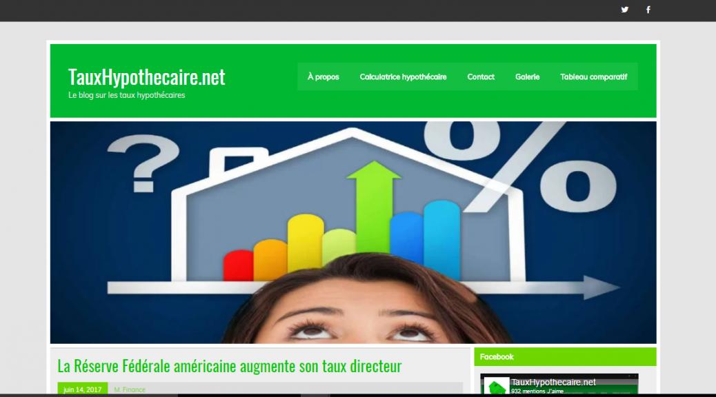 Tauxhypothecaire.net - Le blog sur les taux hypothécaires